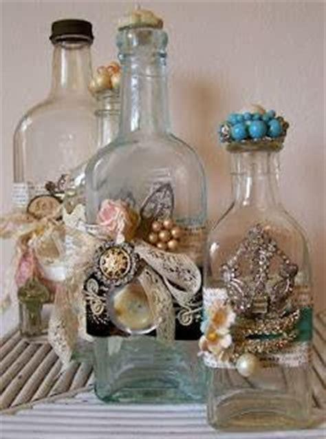 Botol Shabby Chic Decoupage kerajinan tangan aneka kerajinan tangan dari botol bekas