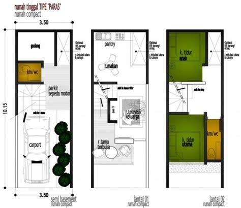 rumah minimalis ukuran    denah
