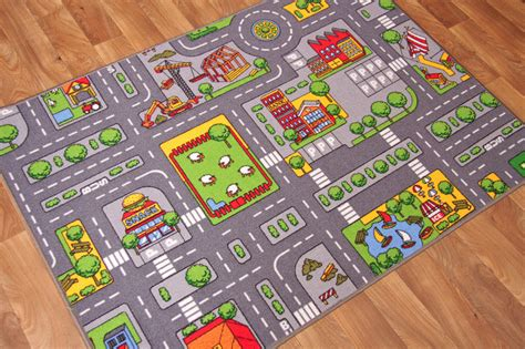 rug with roads play town roads mats cheap small large