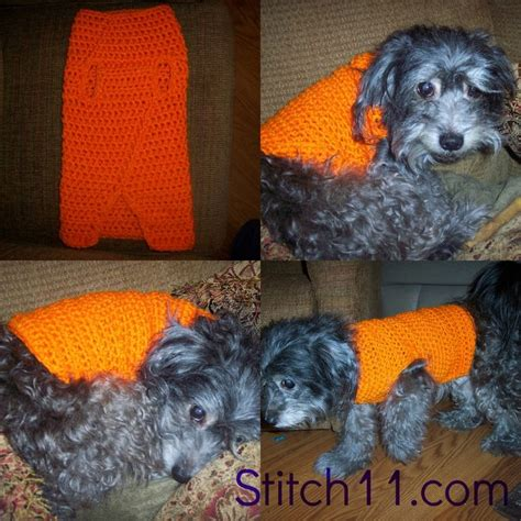 crochet pattern dog jumper free crochet dog sweater pattern crochet ideas