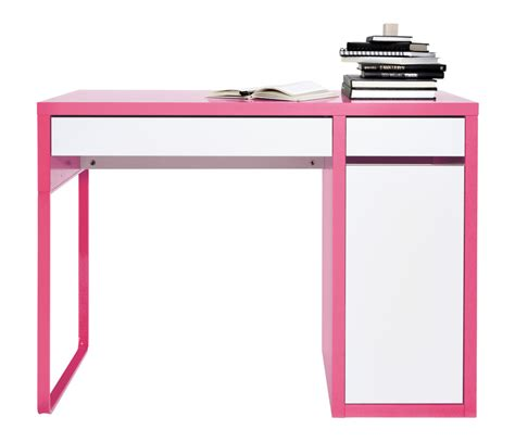 pink and white desk decorating charming ikea micke desk in white with drawers