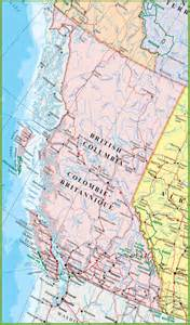 detailed map of columbia canada canada map