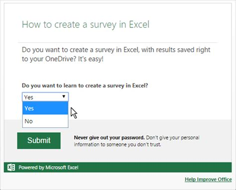 Create A Questionnaire - how to create a survey using excel bettercloud monitor