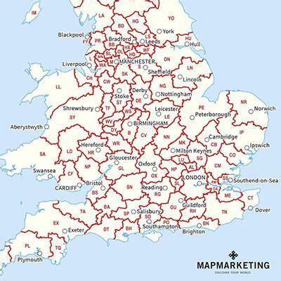 printable maps uk postcodes postcode maps map marketing