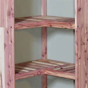 Wood Closet Shelf by Cedar Corner Shelf Ventilated Cedar Closet Organizers
