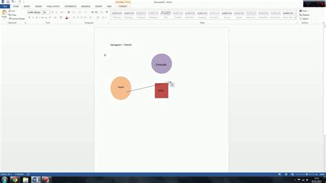 Genogram Eco Map Tutorial Microsoft Word Youtube Genogram Template Microsoft Word