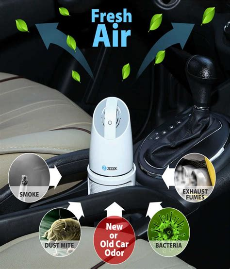 zoook car air purifier zmt puresense white buy zoook car air purifier zmt puresense white
