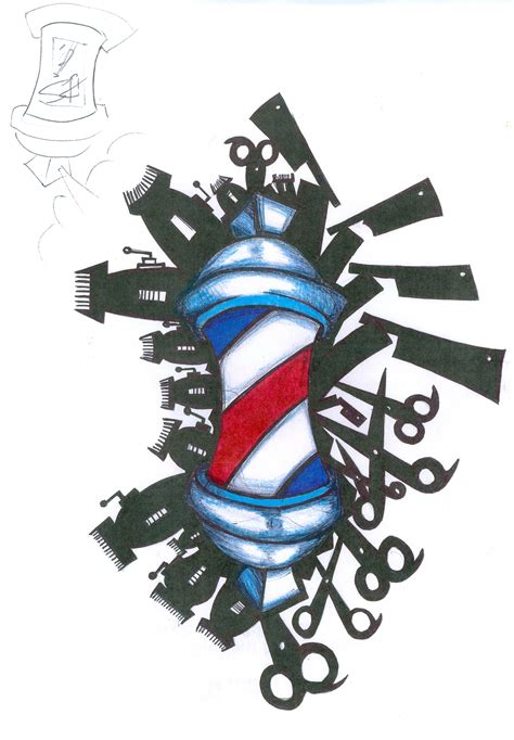 barber pole tattoo designs gallery artmajaz