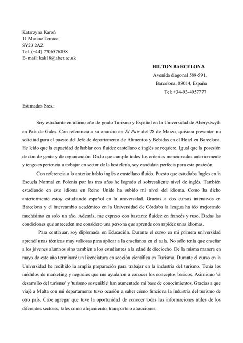 carta formal bien hecha carta de presentacion