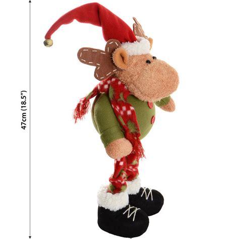 47cm cute festive standing reindeer xmas christmas