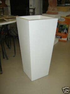 vasi in plastica bianchi vaso in resina bianco altezza cm 85x38x38 vasi ebay