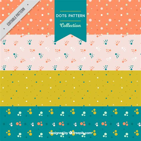 dot pattern vector pack free colorful pack of patterns with dots vector free download