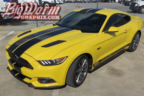 mustang with 2015 17 mustang dual length with pinstripes from big
