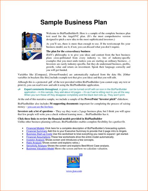 winning business plan format 5 sle of business plan proposal pdf project proposal