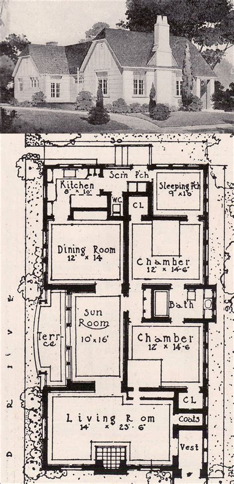 small english cottage floor plans early english revival cottage 1916 ideal homes in garden