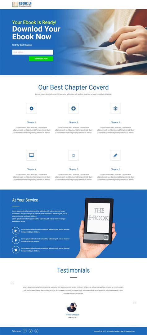 ebook landing page template responsive ebook html landing page template with free builder