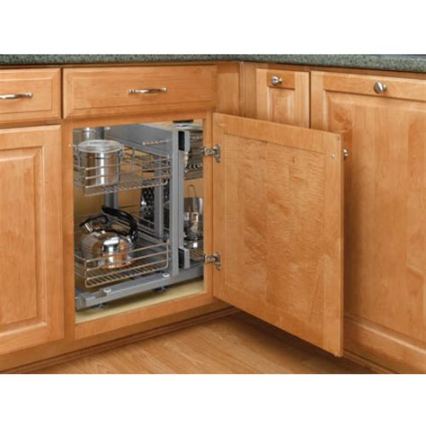 Kitchen Corner Cabinet Rev A Shelf Kitchen Blind Corner Cabinet Optimizer Maximizes Space In Blind Corner Cabinets