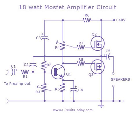 12v mosfet amplifier circuit circuit diagram images