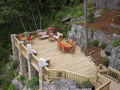 building a deck on a sloped backyard 54 best home hillside backyards images on pinterest