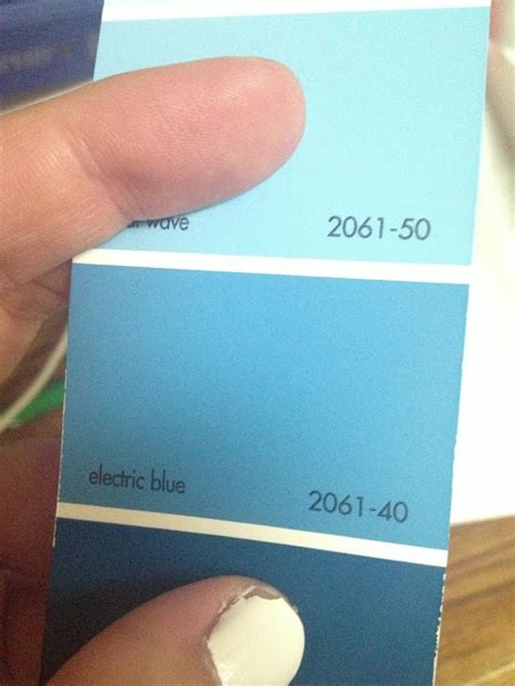 benjamin moore electric blue hilary dow ward paint in the guest room
