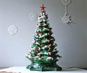 vintage 1960s green ceramic christmas tree by modishvintage