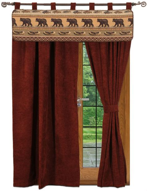wildlife curtains how to make burlaps guest post recipe rustic cabin tier