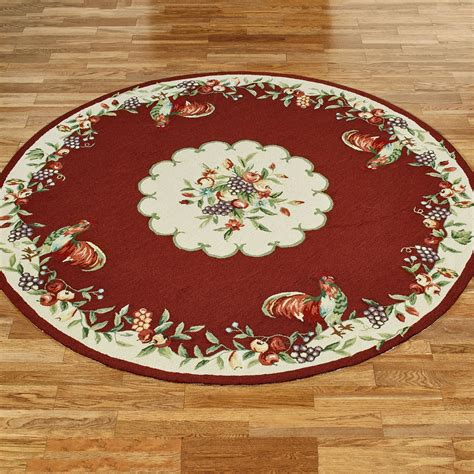 Sonoma Hand Hooked Rooster Round Rugs Rooster Rug