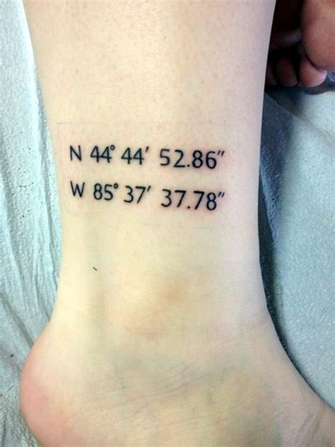 tattoo coordinates 40 coordinates ideas to a memory on your