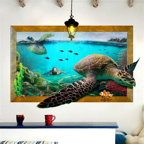 Sea Turtle Bedroom Decor by 3d Sea Turtle Livingroom Bedroom Animals Floor Home