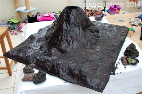 How To Make Paper Mache Volcano Erupt - papier mache volcano papier mache storage and make your own