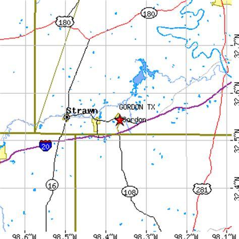 strawn texas map gordon texas tx population data races housing economy