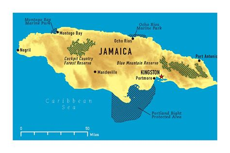 large map  jamaica   marks jamaica north