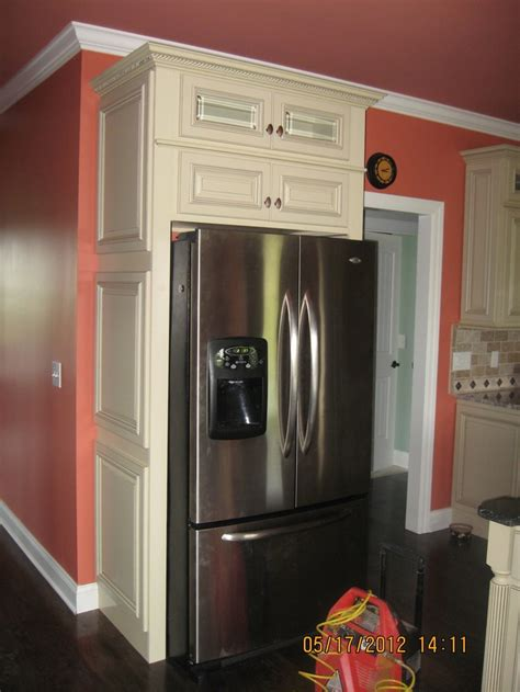 Microwave Kitchen Cabinet Refrigerator Enclosure Kitchen Pinterest