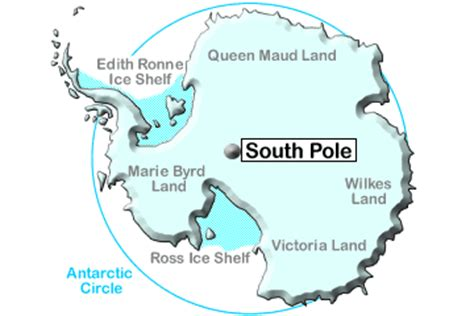 arctic & antarctic polar regions map, guides and information