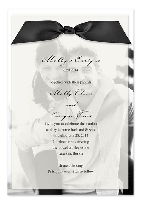 sheer initial wedding invitations fashionable wedding invitations