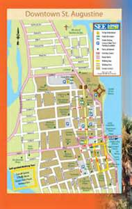 map of downtown st augustine florida st augustine historic district map here for a map of