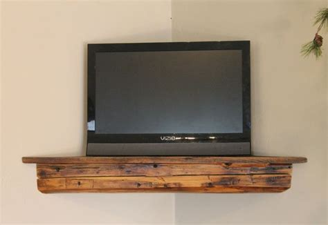 c30 30 quot reclaimed barn beam pine corner shelf antique