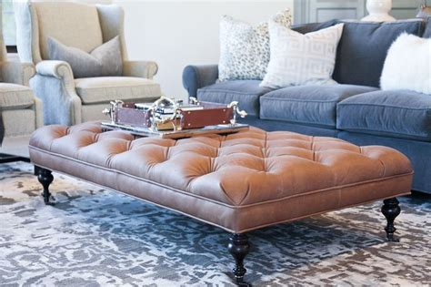 leather tufted coffee table best 25 tufted ottoman coffee table ideas on