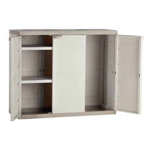 Armoir Rangement armoire de rangement plastiken 3 portes basse
