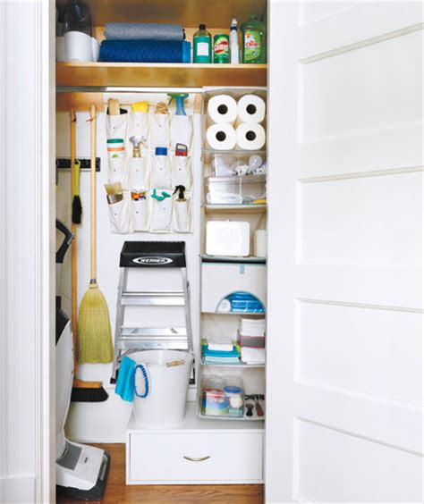 Utility Closet Storage by How To Organize Your Utility Closet Real Simple