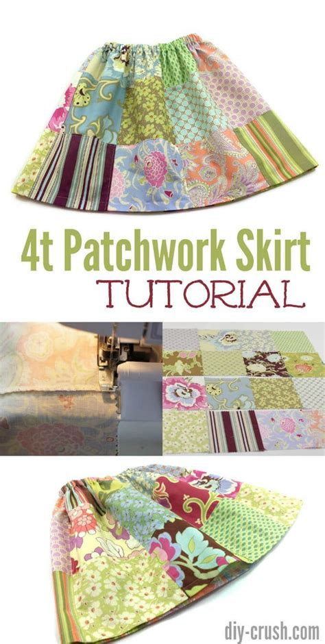 Patchwork Skirt Tutorial - 414 migliori immagini sewing clothes su