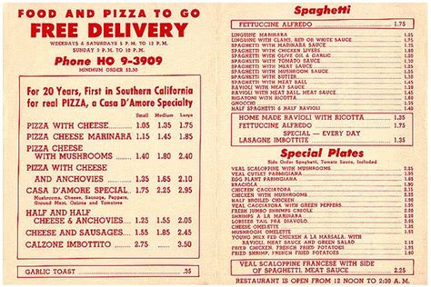 l post diner menu chain pizza what was it like during the space age