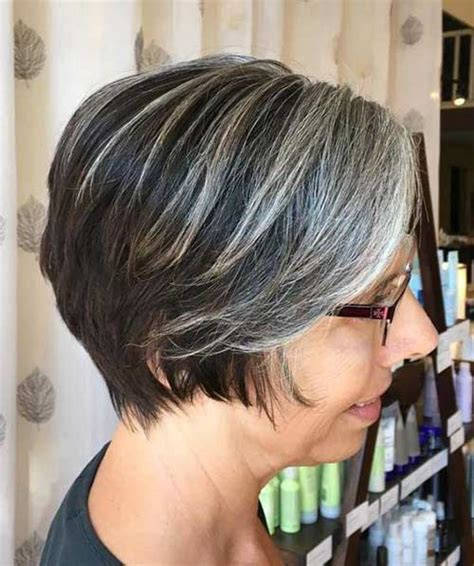 short gray layered bob best hairstyles for short curly hair short hairstyles