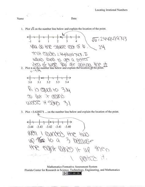 worksheet comparing and ordering rational numbers