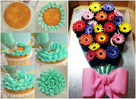 floral arrangement cupcake tutorial cupcake bouquet tutorial with video the whoot