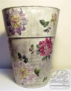Decoupage Trash Can - 1000 images about trash never looked this gorgeous