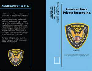 Security Company Brochure Template by American Security Brochures Security