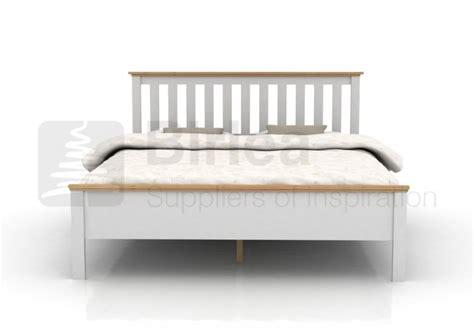 White Wooden Bed Birlea Richmond 4ft6 White Wooden Bed Frame By Birlea