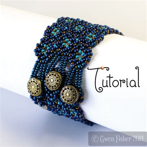 how to add a clasp to a beaded bracelet gwenbeads tutorial lozenge bracelet beaded angle weave