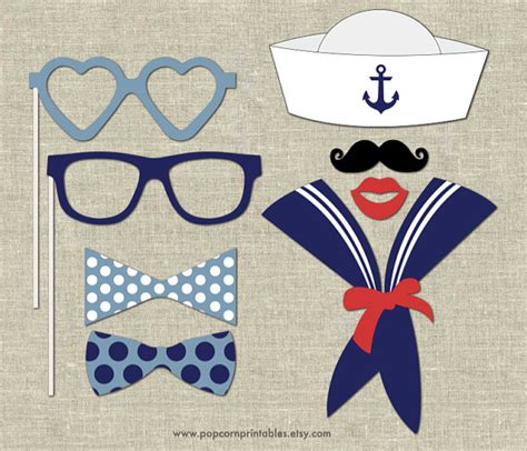 printable sailor photo booth props nautical photo booth props diy instant download adobe